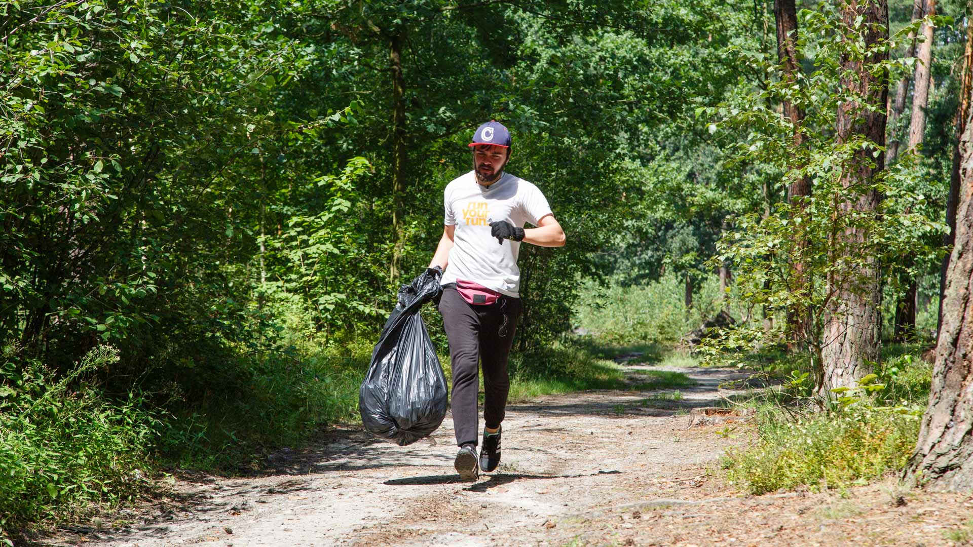 Plogging. Trash never ends