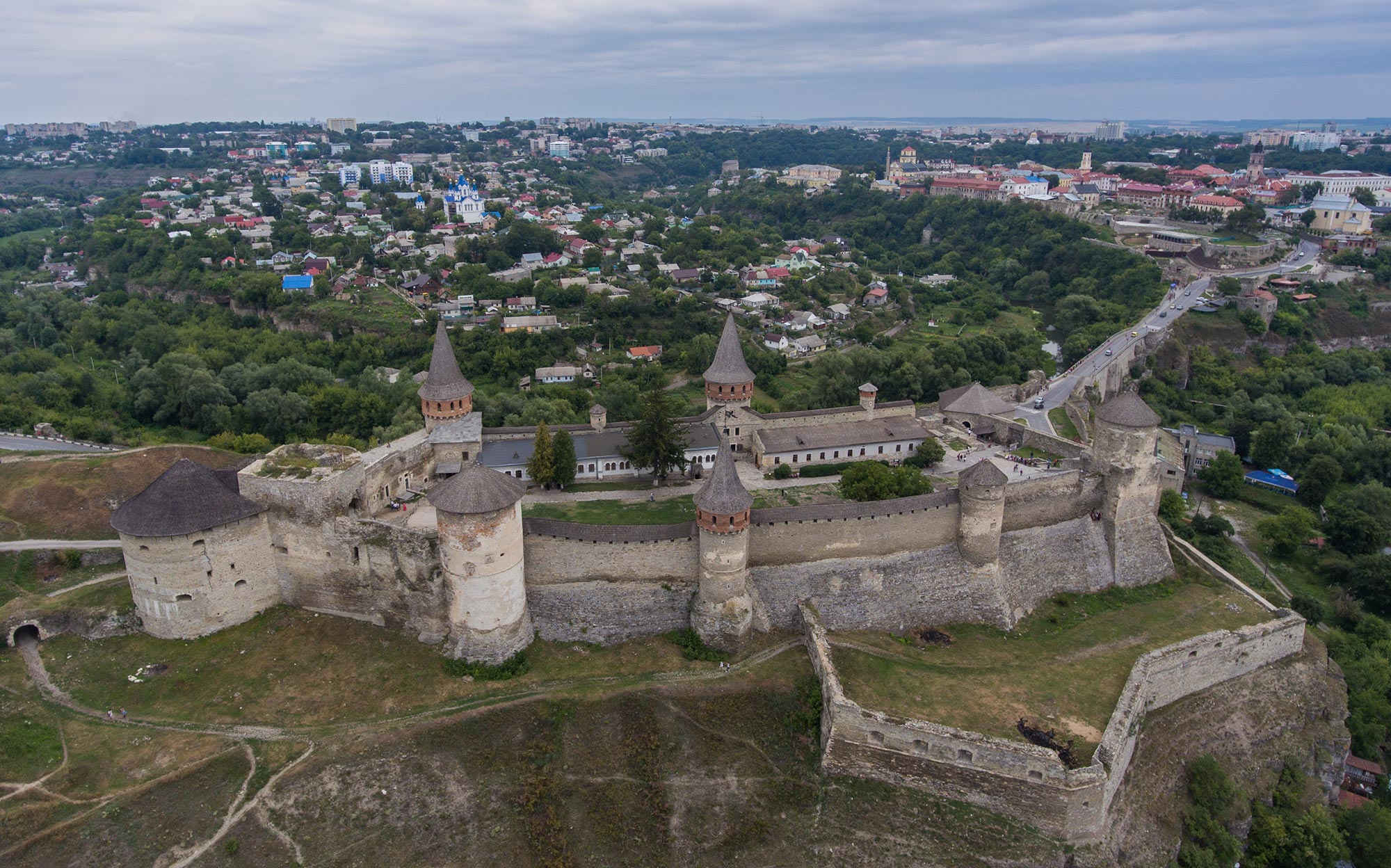 Kamianets-Podilskyi. The living fortress